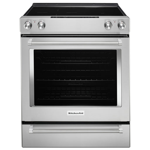 KitchenAid 30-Inch 5-Element Electric Convection Front Control Range