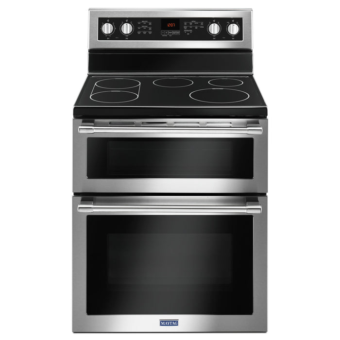 Maytag 30-Inch Wide Double Oven Electric Range With True Convection - 6.7 Cu. Ft.
