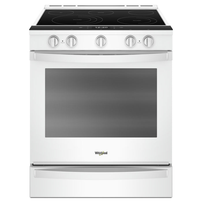 Whirlpool 6.4 Cu. Ft. Smart Slide-in Electric Range with Frozen Bake Technology