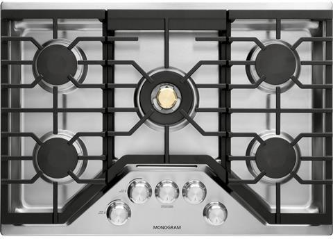 Monogram ZGU30RSLSS 30 Inch Natural Gas Cooktop with 5 Sealed Burners - Stainless Steel - Cooktop - Monogram - Topchoice Electronics