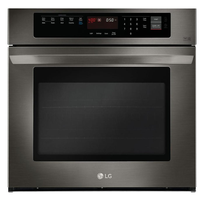 LG LWS3063BD 4.7 cu. ft. Single Built-In Wall Oven in Black Stainless Steel