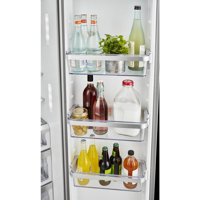 Kitchenaid KRSF705HBS 24.8 Cu Ft. Side-by-Side Refrigerator With Exterior Ice And Water And PrintShield Finish In Black