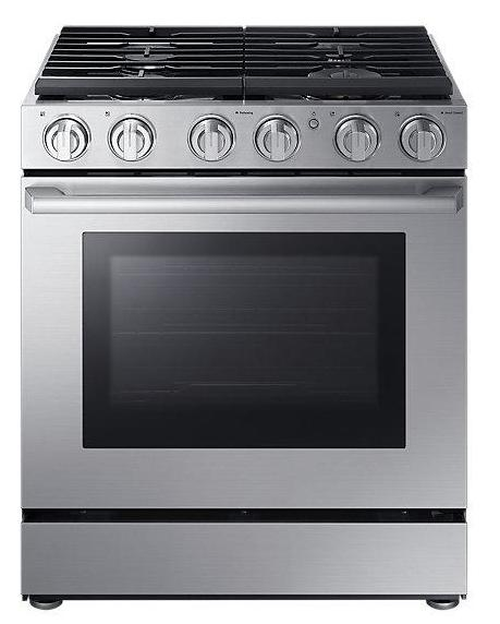 "Samsung 5.8 cu. ft. 30"" Gas Chef Collection Pro Range with Dual Convection"
