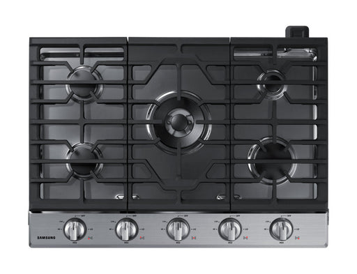 Samsung NA30K6550TS/AA 56000 BTU Gas Cooktop with 19K BTU Dual Burner - Stainless Steel - Cooktop - Samsung - Topchoice Electronics