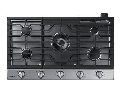 Samsung NA36K6550TS/AA 56000 BTU Gas Cooktop with 19K BTU Dual Burner - Stainless Steel - Cooktop - Samsung - Topchoice Electronics