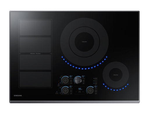 Samsung NZ30K7880UG/AA 8.6 kW Electric Induction with Virtual Flame Technology™ - Black Stainless Steel - Cooktop - Samsung - Topchoice Electronics