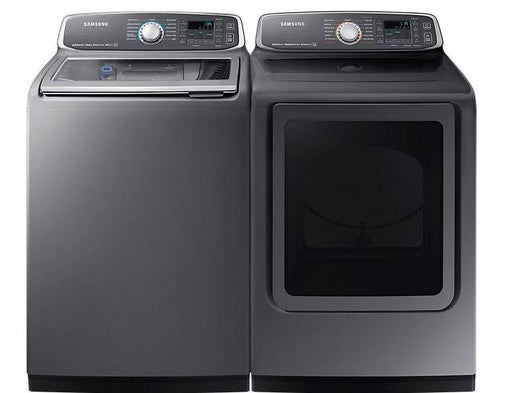 Samsung BNDL-WA52M7755AP-DVE52M7750P 6.0 cu.ft. Top-Load Washer with 7.4 cu.ft Dryer  Bundle - Inox
