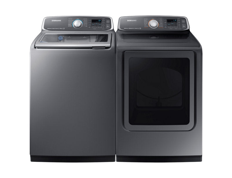Samsung DVE52M7750P/AC 7.4 cu.ft Dryer with MultiSteam™ - Platinum - Dryer - Samsung - Topchoice Electronics