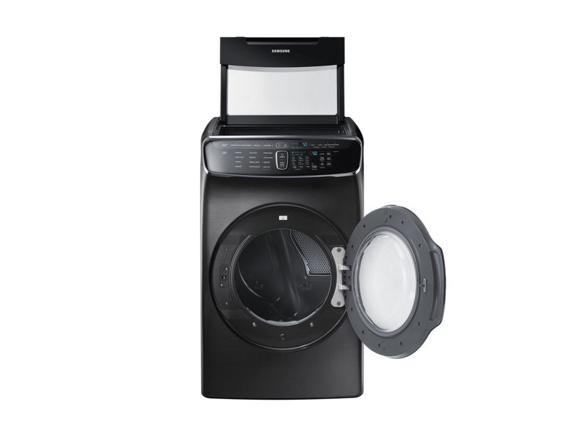 Samsung DVE60M9900V/AC 7.5 cu.ft. Dryer with FlexSystem - Black Stainless Steel - Dryer - Samsung - Topchoice Electronics
