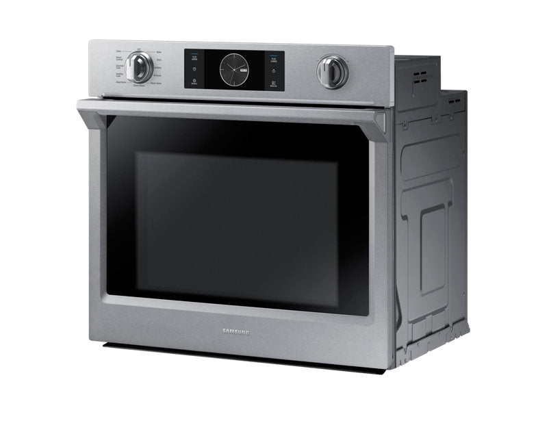 Samsung 5.1 cu.ft Convection Single Oven with Steam Bake - Wall Oven - Samsung - Topchoice Electronics
