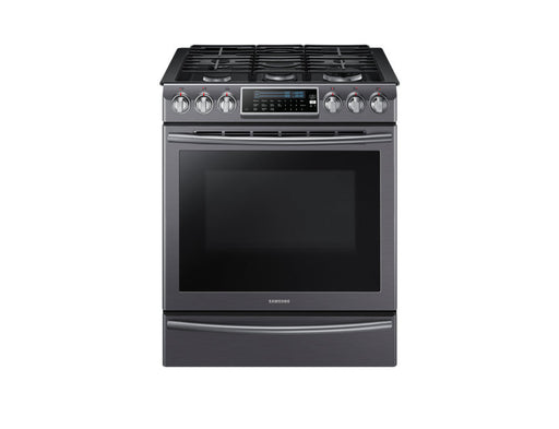 Samsung NX58K9500WG/AC 5.8 cu.ft Gas Range with 18K Dual Power Burner - Black Stainless Steel - Range - Samsung - Topchoice Electronics