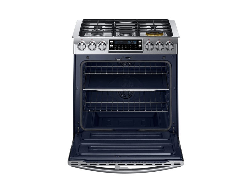 Samsung NY58J9850WS/AC 5.8 cu.ft Gas Range with Dual Fuel Technology - Chef Collection - Stainless Steel - Range - Samsung - Topchoice Electronics