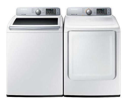 Samsung WA45H7000AW-DV45H7000EW 5.2 cu.ft Top-Load Washer with 7.4 cu.ft Electric Top-Load Dryer - White
