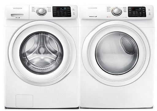 Samsung 5.2 cu.ft. Front-Load Washer with 7.5 cu.ft Electric Front-Load Dryer Bundle - White