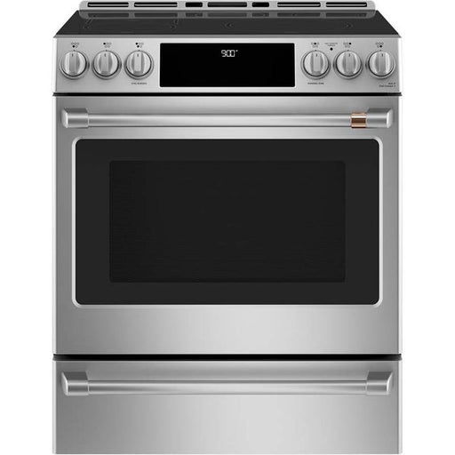 GE Cafe CCHS900P2MS1 30-Inch 5.7 cu ft Slide-In Front Control Induction and Convection Range In Stainless Steel