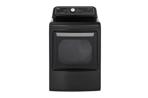 LG DLEX7900BE 7.3 cu. ft. EasyLoad, TurboSteam® Dryer In Black Stainless Steel