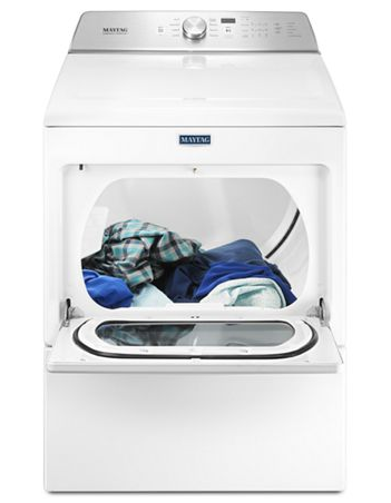 Maytag MGDB765FW 7.4 CU. FT. Large capacity gas dryer with intellidry® sensor - White
