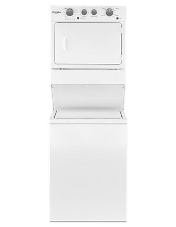 Whirlpool YWET4027HW 4.0 cu.ft I.E.C. Electric Stacked Laundry Center 9 Wash cycles and AutoDry™ - White