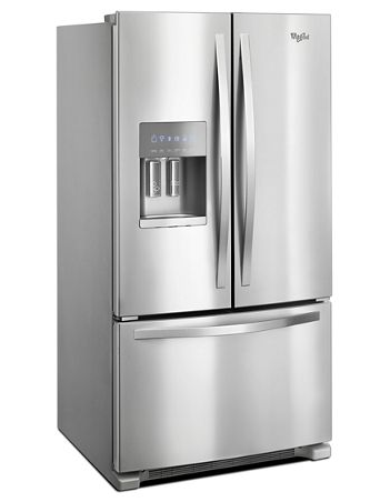 Whirlpool WRF555SDFZ 25 cu. ft. 36-inch Wide French Door Refrigerator - Fingerprint Resistant Stainless Steel