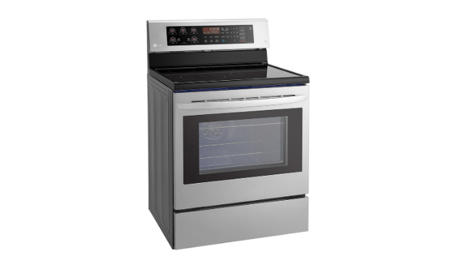LG LRE3193ST 6.3 Cu. Ft. Electric Single Oven Range with True Convection and EasyClean in Stainless Steel