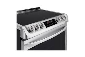 LG LSE4611ST 6.3 cu. ft. Electric Single Oven Slide-in Range with ProBake Convection® and EasyClean® in Stainless Steel