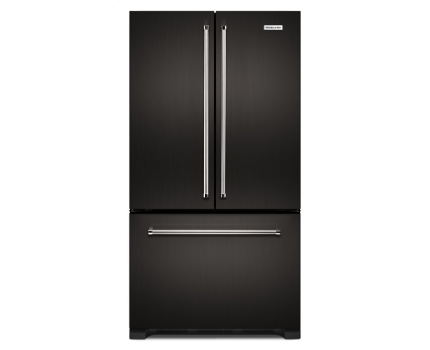 KitchenAid KRFC302EBS 22 cu. ft. 36-Inch Width Counter Depth French Door Refrigerator with Interior Dispense In Black Stainless Steel