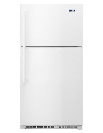 Maytag 21 CU. FT. 33-inch wide top freezer refrigerator with evenair™ cooling tower