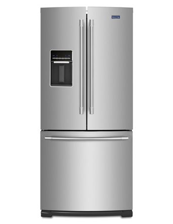 Maytag MFW2055FRZ 20 CU. FT. 30-inch wide french door refrigerator with exterior water dispenser - Fingerprint Resistant Stainless Steel