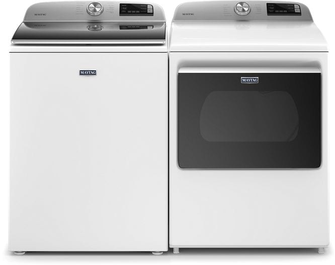 Maytag MGD6230HW Smart Capable Top Load Gas Dryer With Extra Power Button In White