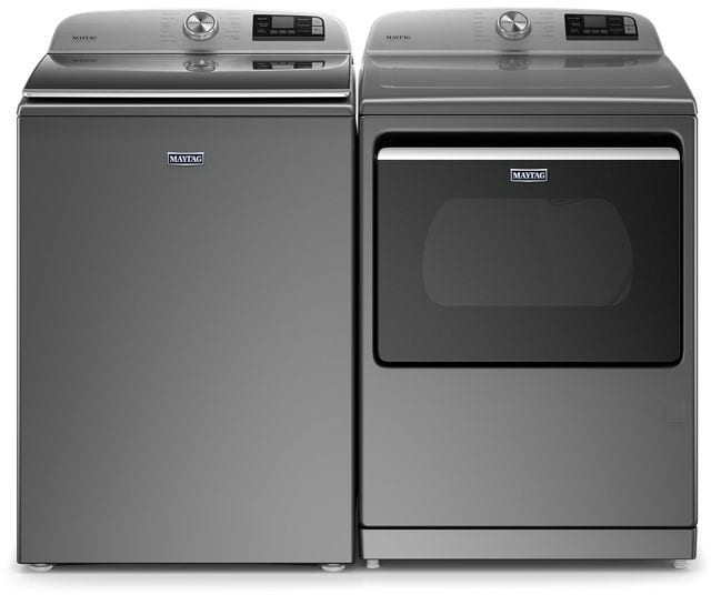 Maytag MGD7230HC 7.4 Cu. Ft. Smart Capable Top Load Gas Dryer With Extra Power Button In Metallic Slate