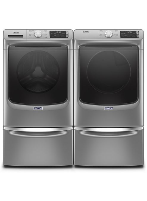 Maytag 5.5 cu.ft Front Load Washer with 7.3 cu.ft Front Load Electric Dryer Laundry Pair in Metallic Slate