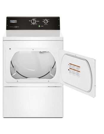 Maytag YMEDP575GW 7.4 CU. FT. Commercial-grade residential dryer - White - Dryer - Maytag - Topchoice Electronics