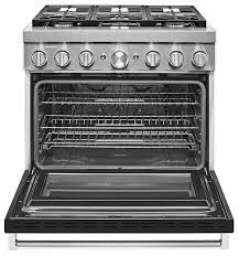 KitchenAid KFDC506JBK 36'' Smart Commercial-Style Dual Fuel Range with 6 Burners in Imperial Black