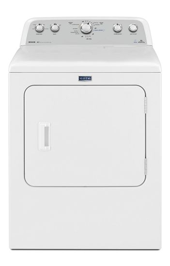 Maytag YMEDX6STBW 7.0 CU. FT. Bravos® High efficiency electric dryer with steam refresh cycle - White - Dryer - Maytag - Topchoice Electronics