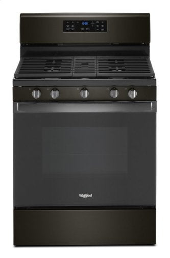 Whirlpool WFG535S0JV 5.0 cu. ft. Gas Range with Self-Cleaning Convection Oven in Black Stainless Steel