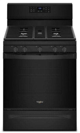Whirlpool WFG550S0HB 5.0 cu. ft. Gas Range with Fan Convection Oven in Black