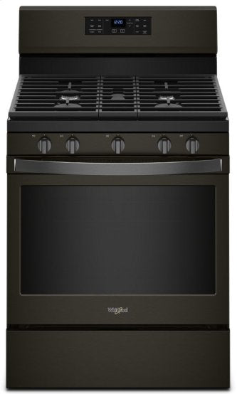 Whirlpool WFG550S0HV 5.0 cu. ft. Gas Range with Fan Convection Oven in Fingerprint Resistant Black Stainless Steel