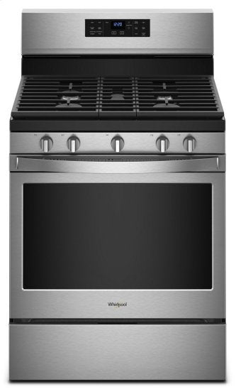 Whirlpool WFG550S0HZ 5.0 cu. ft. Gas Range with Fan Convection Oven in Fingerprint Resistant Stainless Steel