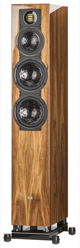 ELAC LINE 400 Series Floorstanding Speaker - Walnut High Gloss - FS409-GN (Each) - Special Order - Speakers - ELAC - Topchoice Electronics
