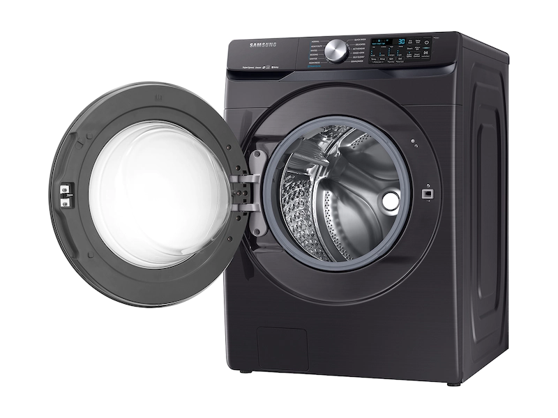 Samsung WF45R6300AV/US 4.5 cu. ft. Smart Front Load Washer with Super Speed in Black Stainless Steel