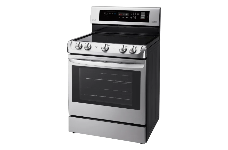 LG LRE4211ST 6.3 Cu. Ft. Electric Single Oven Range With ProBake Convection And EasyClean in Stainless Steel