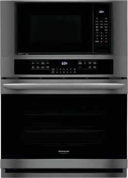 Frigidaire Gallery FGMC3066UD 30-Inch Electric Wall Oven/Microwave Combination In Black Stainless Steel