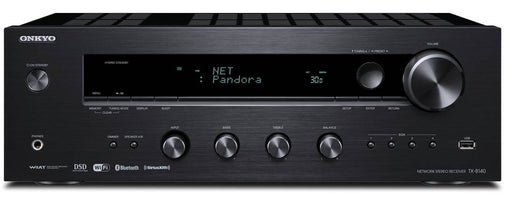 Onkyo TX8140 Network Stereo Receiver with Built-In Wi-Fi & Bluetooth in Black