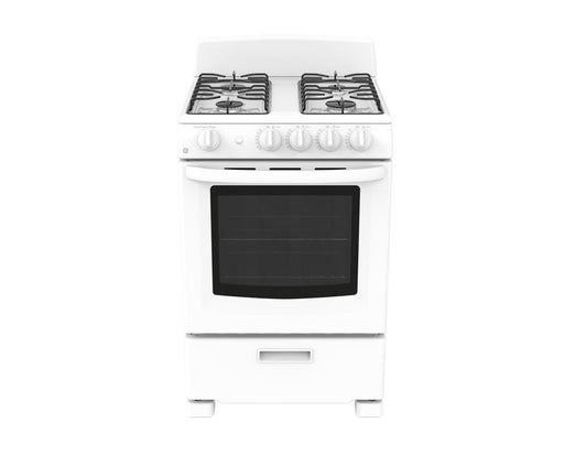 GE Cafe JCGAS300DMWW 24-Inch 2.9 Cube Feet Slide-In Standard Clean Gas Range In White