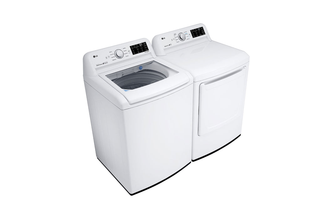 LG WT7100CW 5.2 cu. ft. Top Load Washer Large Capacity High Efficiency with Front Control Design - ENERGY STAR® In White
