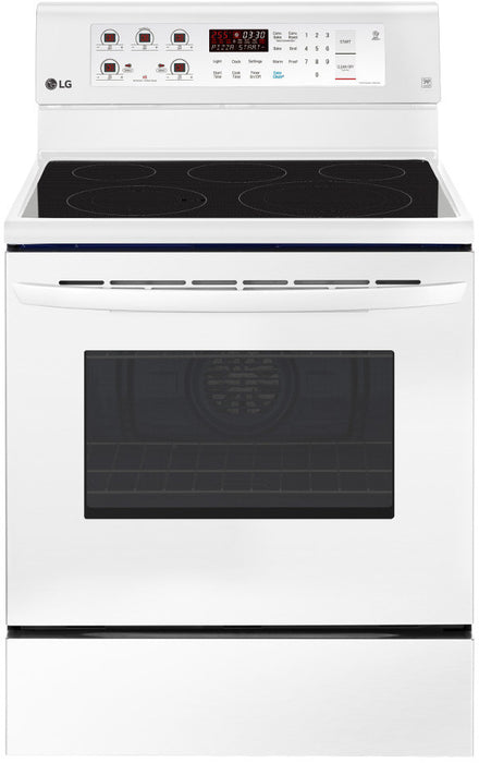 LG LRE3193SW 6.3 Cu. Ft. Electric Range With EasyClean And True Convection In White