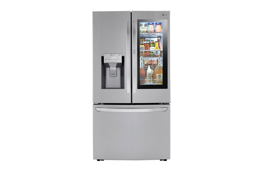 LG LRFVC2406S 24 cu. ft. Smart wi-fi Enabled InstaView™ Door-in-Door® Counter-Depth Refrigerator with Craft Ice™ Maker in Stainless Steel