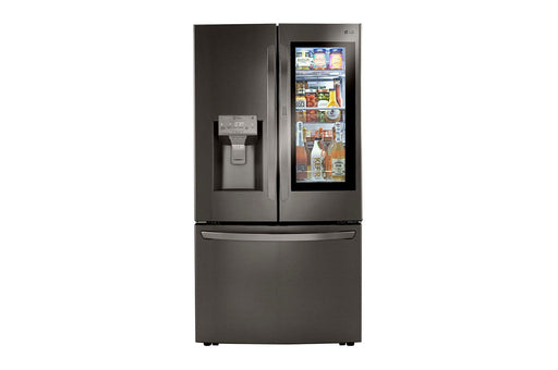 LG LRFVC2406D 24 cu. ft. Smart wi-fi Enabled InstaView™ Door-in-Door® Counter-Depth Refrigerator with Craft Ice™ Maker Black Stainless Steel