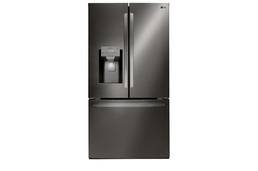 LG LFXC22526D 22 cu. ft. Smart wi-fi Enabled French Door Counter-Depth Refrigerator in Black Stainless Steel
