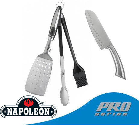 Napoleon 4 pieces tool set - including pro series chef knife - BBQ Accessories - Napoleon - Topchoice Electronics
